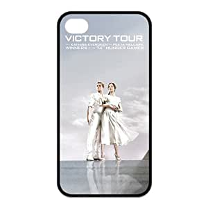 Funny Gift Hunger Games 2 Catching Fire Katniss and Peeta Durable Best PVC and Rubber Laser Iphone 4 4S Case