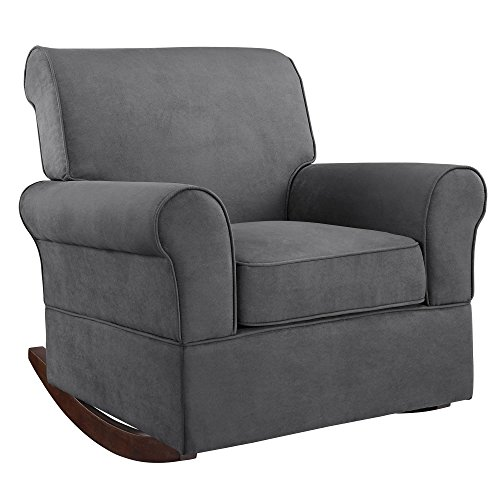 Baby Relax The Mackenzie Microfiber Plush Nursery Rocker Chair