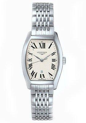 Reloj Longines Mujer l21554716 al cuarzo (batería) acero quandrante plateado correa piel: Amazon.es: Relojes
