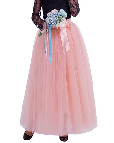 Comall Couches Robe 7 Jupe en Jupon Petticoat Femme Vintage sous Tulle Rtro 100cm Tutu Pche rSxw4rfHq