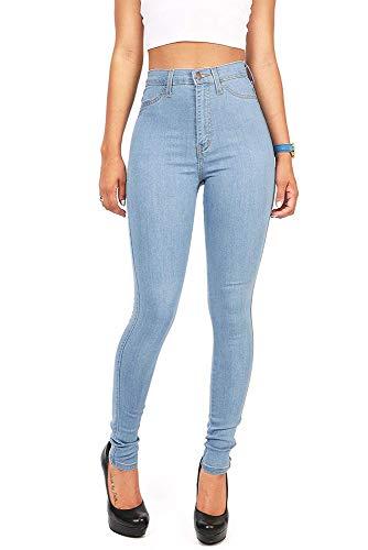 Skinny Femme Taille pour Bleu Jean Ciel Respirant Huateng Haute z5wqCwU