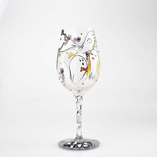 Lolita Halloween Wine Glasses (Enesco 6000214 Wine Glass Toast From a Ghost,)