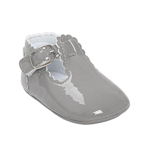 Primeros zapatos para caminar,Auxma La princesa del bebé Sola suave calza las zapatillas de deporte del niño Zapatos ocasionales Gris