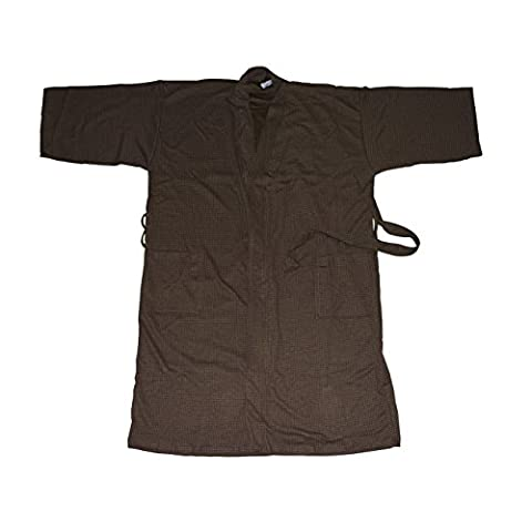 Canyon Rose Unisex Waffle Weave Spa Robe, Brown,