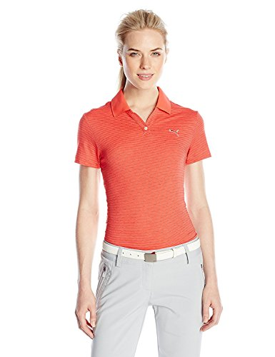 腐った日光ピークPuma Golf Women's Mesh Stripe Polo Shirt X-Large Cayenne [並行輸入品]