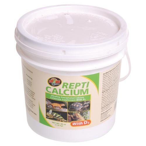 Zoo Med Reptile Calcium with Vitamin D3, 48-Ounce by Zoo Med