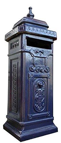 Antike Fundgrube Briefkasten Postkasten Beton Engl Stil Blau