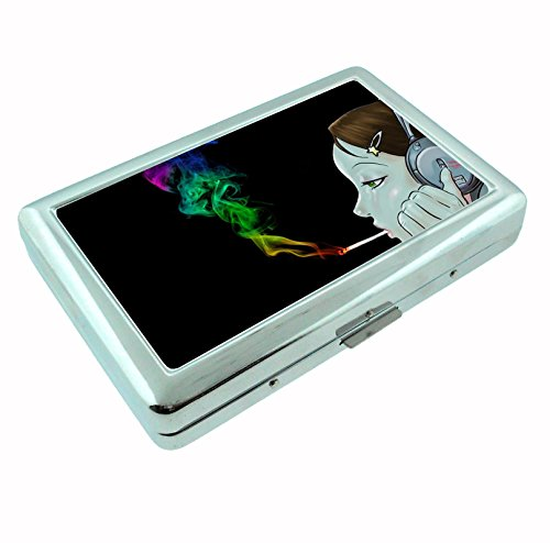 Smoking-Weed-Anime-Metal-Silver-Cigarette-Case-Holder-Box