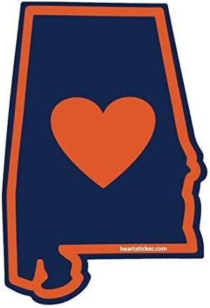 Alabama Sticker Auburn War Eagles Gulf Shore 205 Football Heart of Dixie Bama 2- Pack Auburn Univerisity Sticker Blue /& Orange Apply to Mug Phone Laptop Water Bottle Decal Cooler Bumper