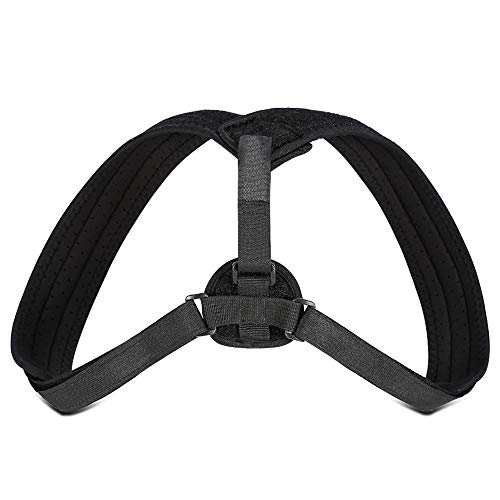 Qii lu Yosoo Posture Corrector Back Brace Posture Corrector Posture Corrector Brace Upper Back Neck Shoulder Support Adjustable Straps for Back, Shoulder, Spinal Support Relief Neck Pain Gray&Black