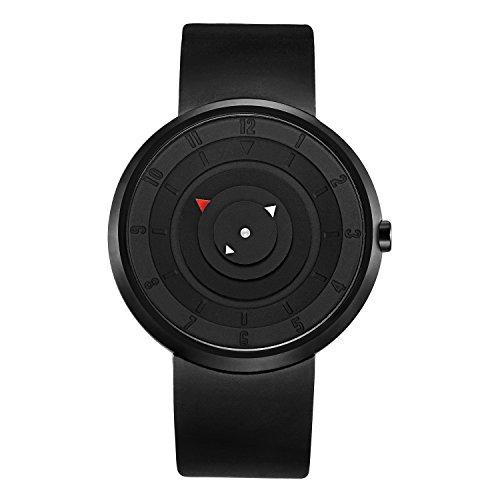 ck band,Turntable Rubber Strap Quartz Watch (black) ()