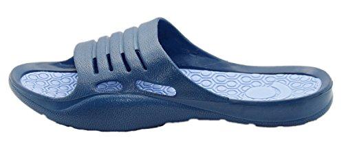 Mules Sandals Pool Flip Ladies Proof Light Blue Water Navy Flop Beach F6cqC