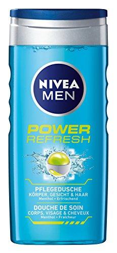 Nivea Men Power Refresh Pflegedusche, Duschgel, 2er Pack (2 x 250 ml)