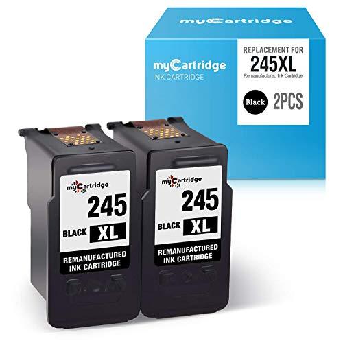 - myCartridge Re-Manufactured Ink Cartridge Replacement for Canon 245 PG-245XL 245XL (2-Pack, Black) Work with Canon PIXMA MX492 MX490 MG2520 MG2522 MG3022 MG2922 TS3120 TS3122