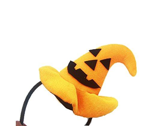 Pumpkin Headband (Merroyal Halloween Pumpkin Hair Spider Ghost Hoop Devil Headband Cosplay)