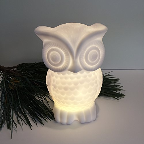 Baby Owl Night Light Soft Warm Glow Battery Powered with 1 Hour Timer