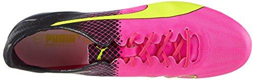 Puma Evospeed SL II Tricks FG, Scarpe da Calcio Uomo Pink (Pink Glo-safety Yellow-black 01)