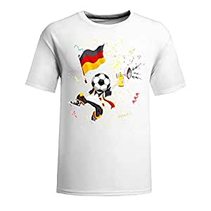 Brazil 2014 FIFA World Cup Short Sleeve T-shirts,National Flag Mens Cotton shirts for Romania Fans navy