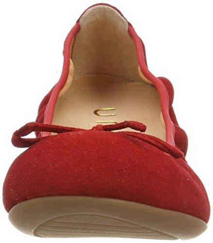 Damen Unisa Rot Geschlossene 18 Red Acor Ballerinas ks PZrqZd