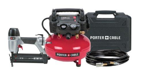PORTER-CABLE CF6121 2-Inch Brad Nailer Compressor Combo Kit