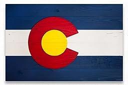 Colorado Wood Flag - Colorado State Flag