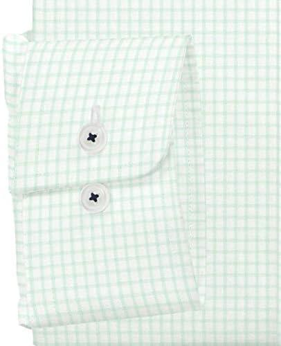 ワイシャツ 軽井沢シャツ [A10KZBB31]ボタンダウン ライトグリーン×ホワイトグラフチェック らくらくオーダー受注生産商品