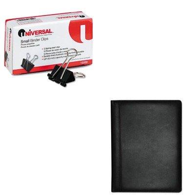 kitbuxoc85006bkunv10200-value-kit-buxton-executive-leather-padfolio-buxoc85006bk-and-universal-small
