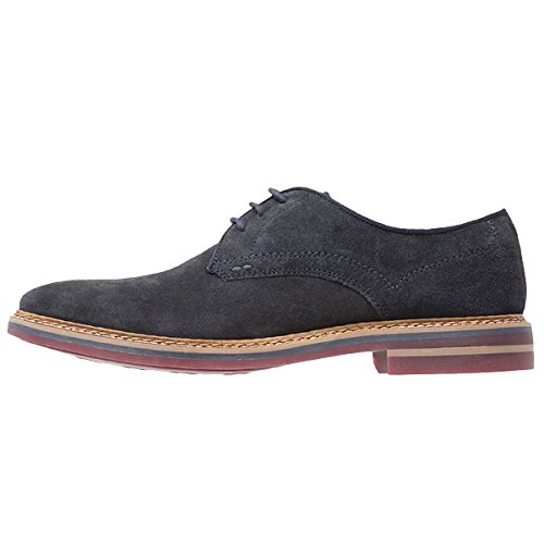Base London Mens Blake Suede Shoes Blue