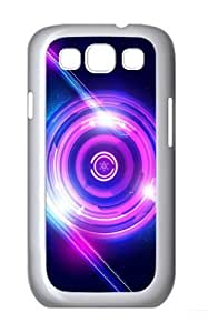 stylish cover purple circles light PC White case/cover for Samsung Galaxy S3 I9300