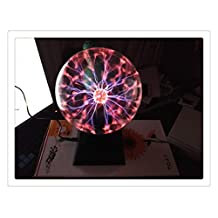 8-inch Plasma Ball Light Static Voice Control Nebula Crystal Globe Lighting for Wedding Decoration Birthday Party