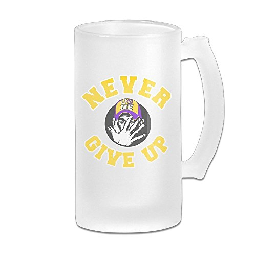 - John Never Give Up Cena 16OZ Frosted Glass Beer Mugs Fashion Glass Beer Mug