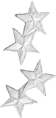 Simplicity Iron-On Appliques White Stars 1-1/4