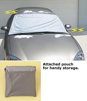 A Set Of 2 Magnetic Windshield Cover -No More Windshields Caked in Ice and Snow. And No More Standing in the Freezing Cold Scraping and Chopping.
