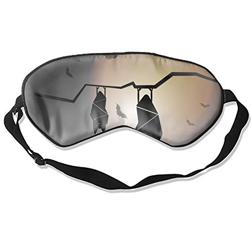 (Adjustable Strap Create Halloween Night with Sleep Bats Eyeshade for Travelling Shift Work Night Noon Nap)