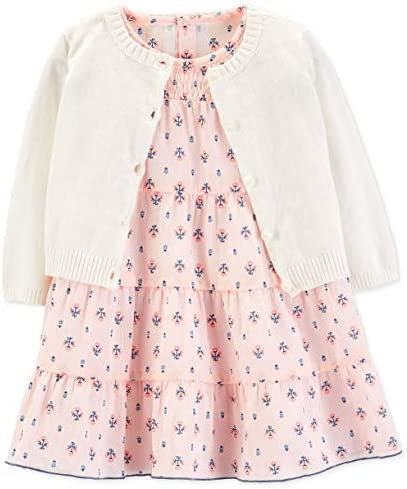 NWT Carter/'s Baby Girl 2-piece Dress with matching sweater 12 Months dog print
