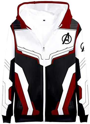 OLIPHEE Jongens Sweatshirt Cosplay Kostuum Superhero Avenger's Endgame Quantum Realm Sweater Jas
