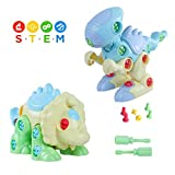Yoohoom Dinosaur Take Apart Toys with Tools, STEM Learning Assembling Puzzle Dinosaurs Building Blocks for Boys Girls Toddlers 3+