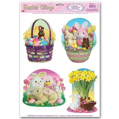 Beistle Easter Candy Window Clings (Pack of 24)