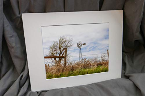 Western Photography, Windmill, Kansas Landscape, Fine Art Photograph 8x10 print with 11x14 Black - Landscapes Windmill
