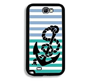 Anchor Stripes Quote Samsung Galaxy Note 2 Note II N7100 Case - Fits Samsung Galaxy Note 2 Note II N7100