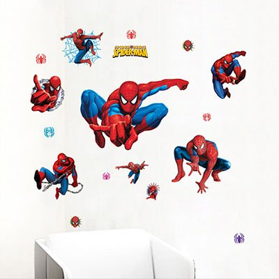 Spider Man Decorative Wall Stickers (Gadfly- Spider-man Peel & Stick Nursery/baby Wall Sticker Decal)