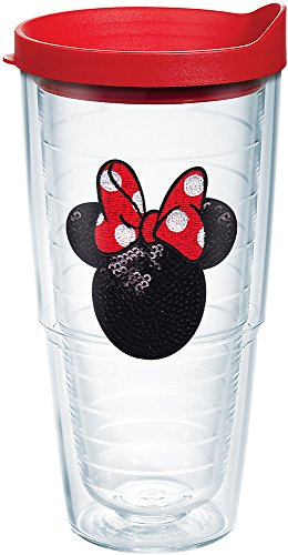 Minnie Mouse Tumbler (Tervis Disney Minnie Mouse Sequins Tumbler with Red Lid, 24-Ounce)