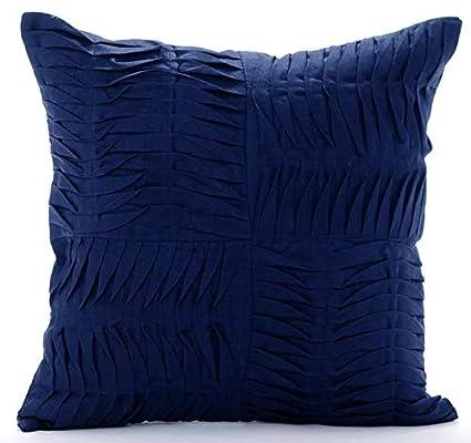 Amazon Designer Navy Blue Decorative Pillow Cover Modern Cool Blue Decorative Pillows Modern