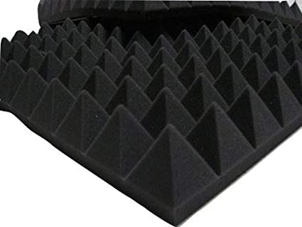 Paneles de aislamiento acústico con pirámides para estudio de audio, de