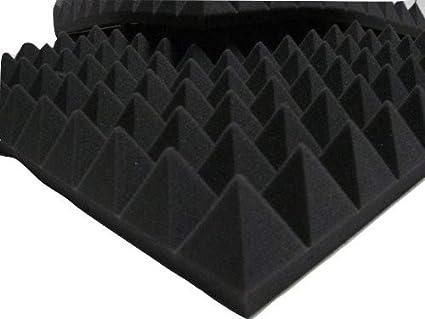 Paneles de aislamiento acústico con pirámides para estudio ...