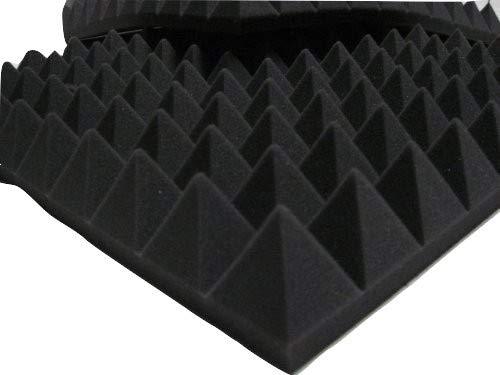 Schallschutzpaneele, pyramidenförmig für Studio Audio Espuma Akustik 49x 49x 6cm dunkelgrau mail2mail