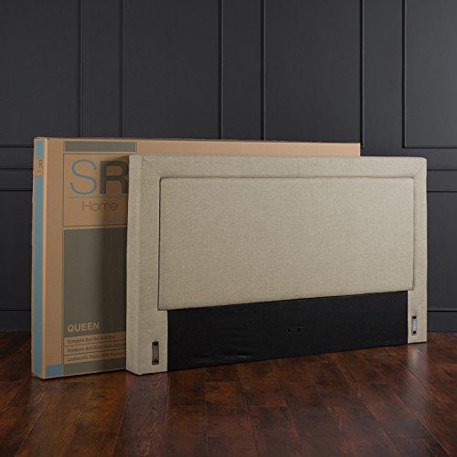 home, kitchen, furniture, bedroom furniture, beds, frames, bases,  beds 8 discount Zinus Mckenzie Upholstered Detailed Platform Bed / Mattress Foundation deals