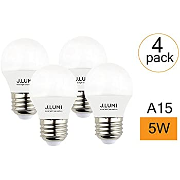 LOHAS A15 LED Bulbs, 40 Watt LED Light Bulbs Equivalent, Daylight ...