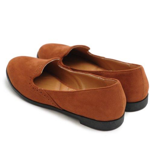Ollio Mujeres Shoe Ballet Faux-suede Cute Comfort Multi Color Marrón Plano