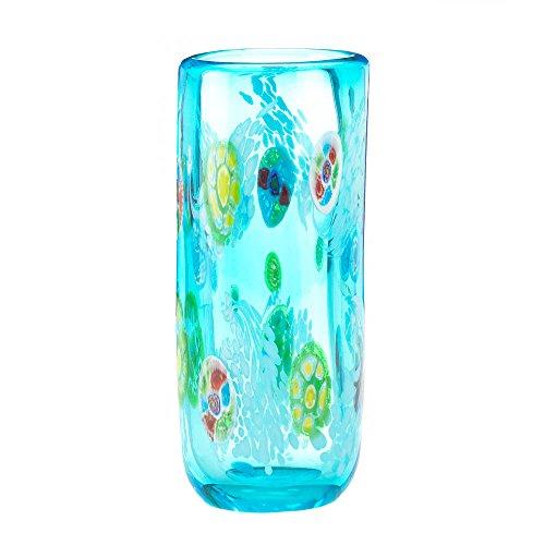 Home Decor Blue Floral Straight Vase